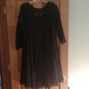 Torrid size 22 black lace dress